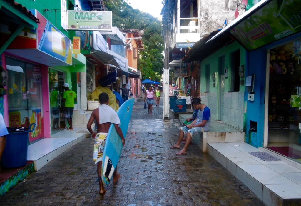 The main street on the island looks like this.