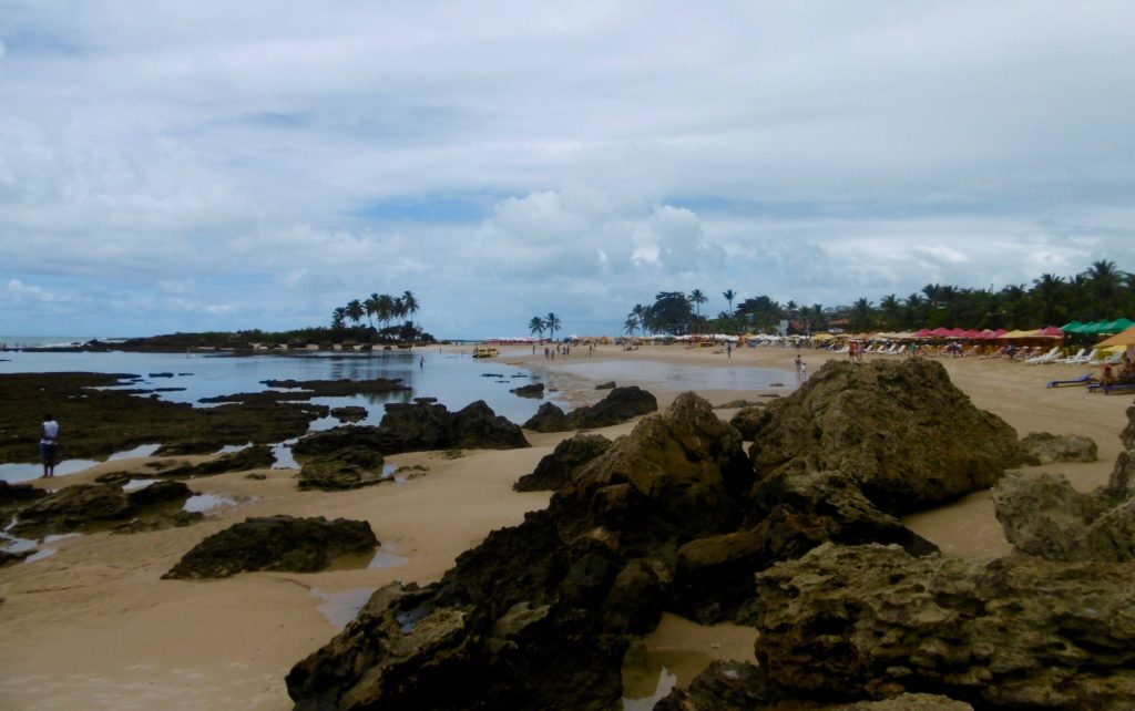 Low tide at Morro De Sao Paulo.