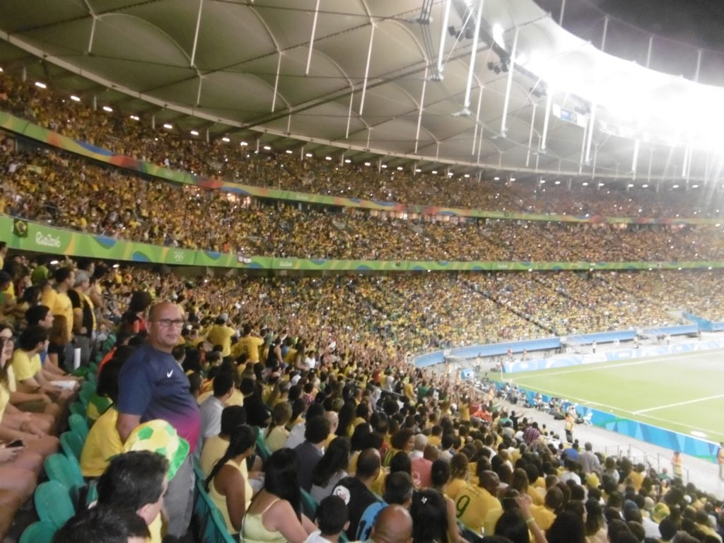 Denmark vs Brazil at Arena Fonte Nova.
