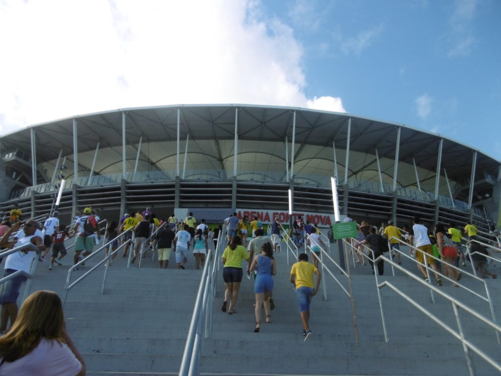 Entering Arena Fonte Nova.
