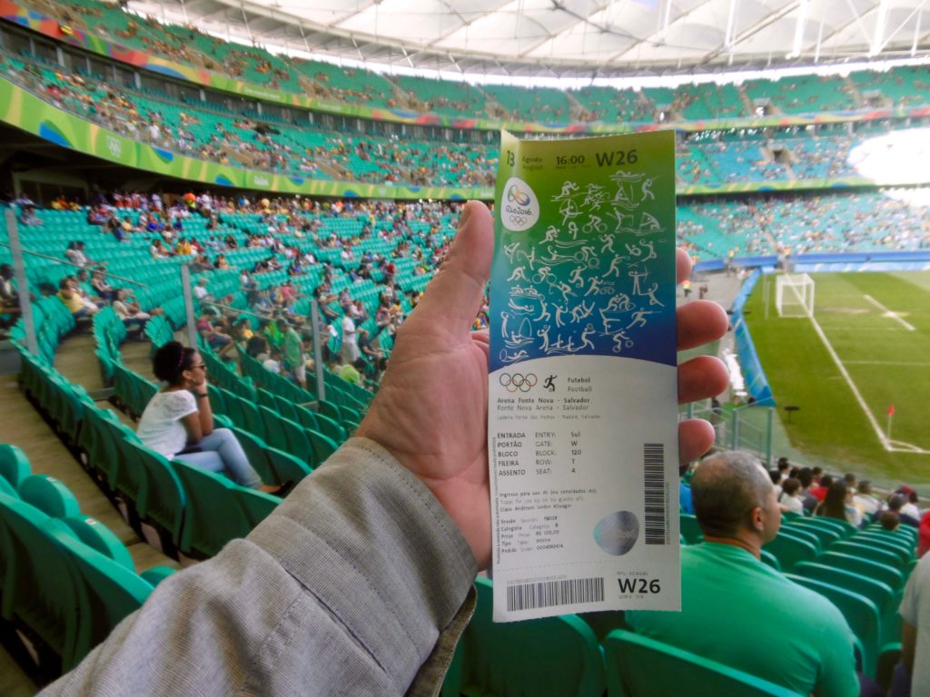 My ticket for the Denmark vs Nigeria game.