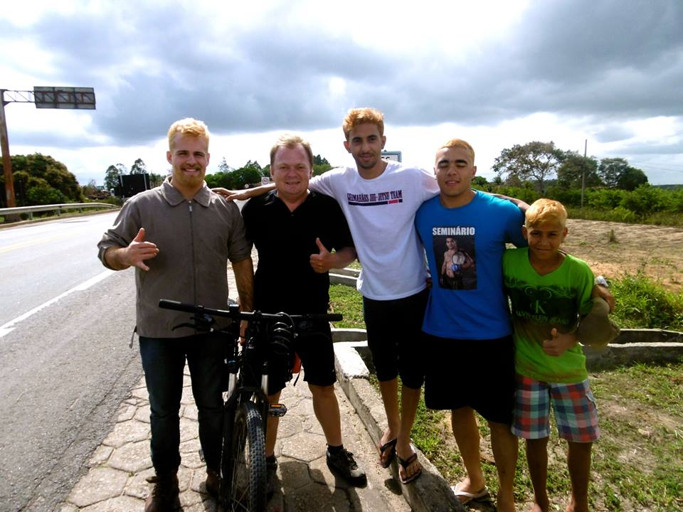 Cycling through Brazil and meeting with some locals on the road.