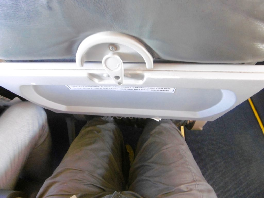 Not much legspace on Croatia Airlines.