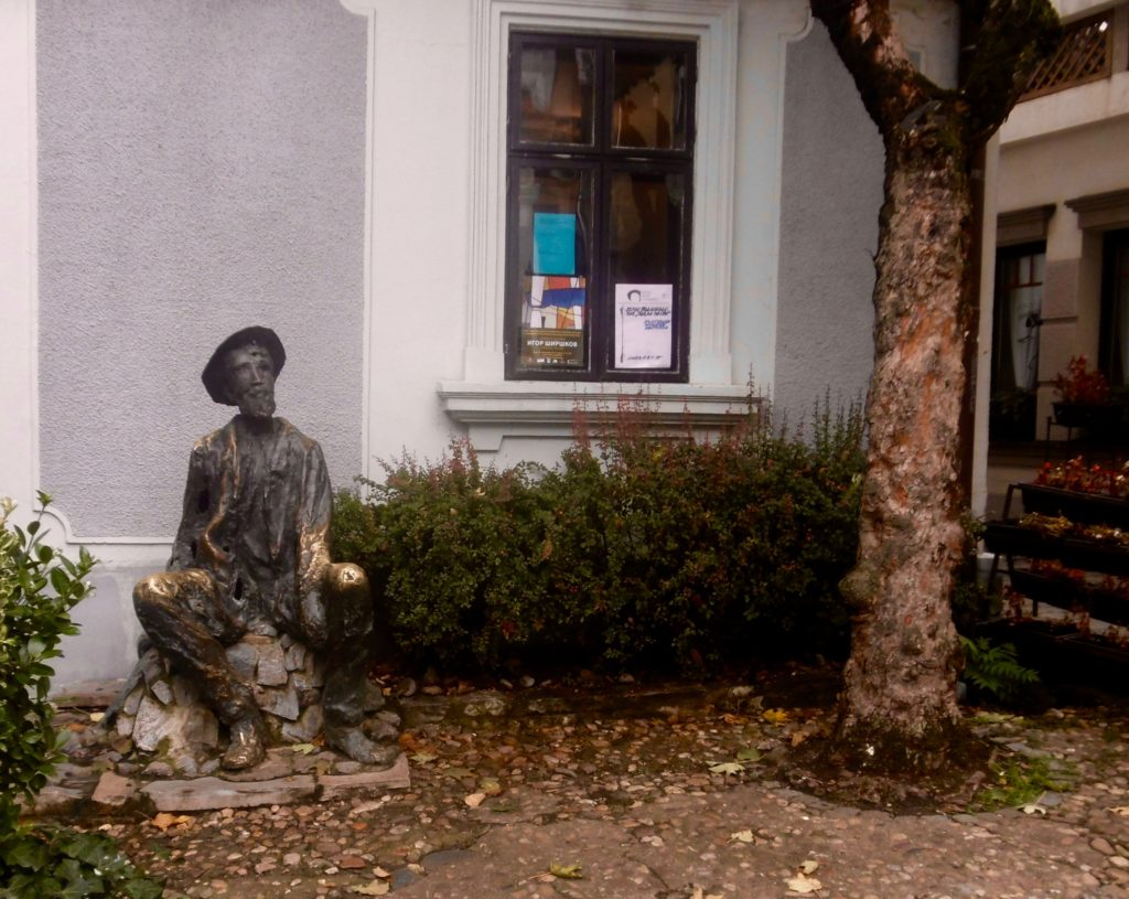 Statue of serbian artist Djura Jaksic, who used to live in the street.