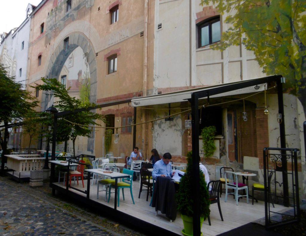 Hipster cafe's in Skadarlija street.