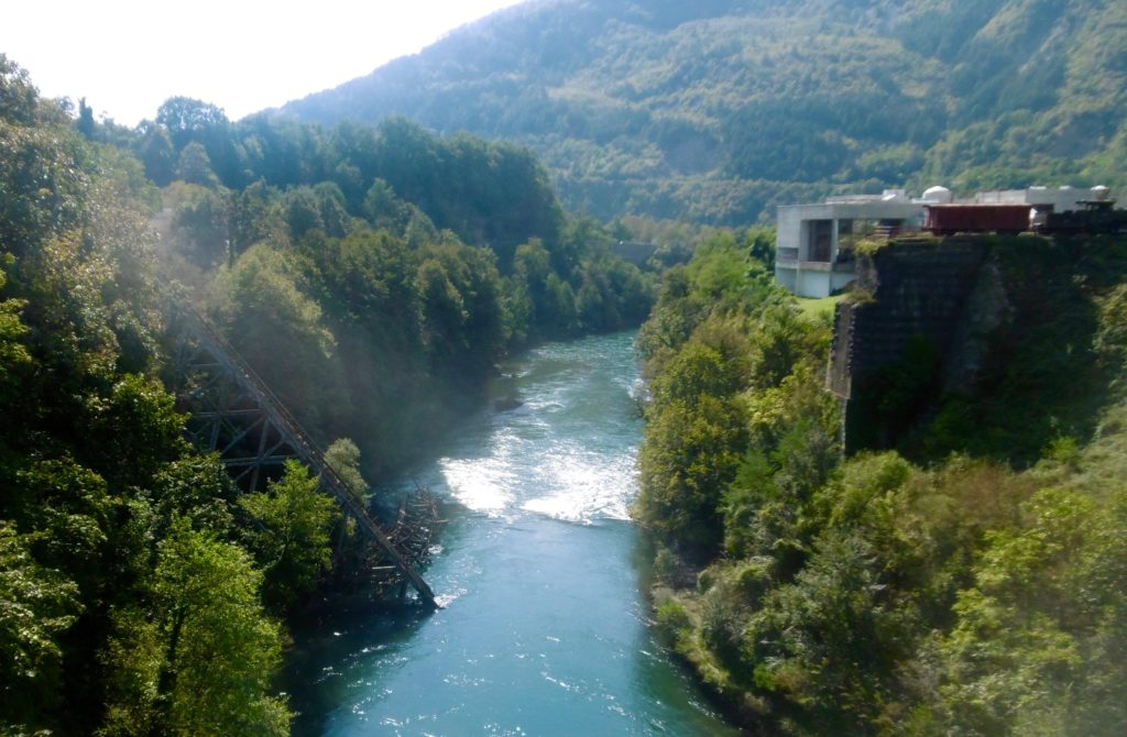 The blown up bridge in Jablanica.