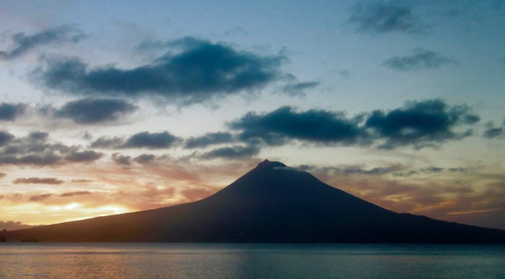 The Pico volcano on the Azores.