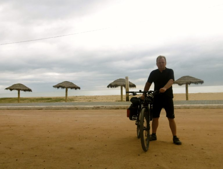 Beach cycling in Brazil.