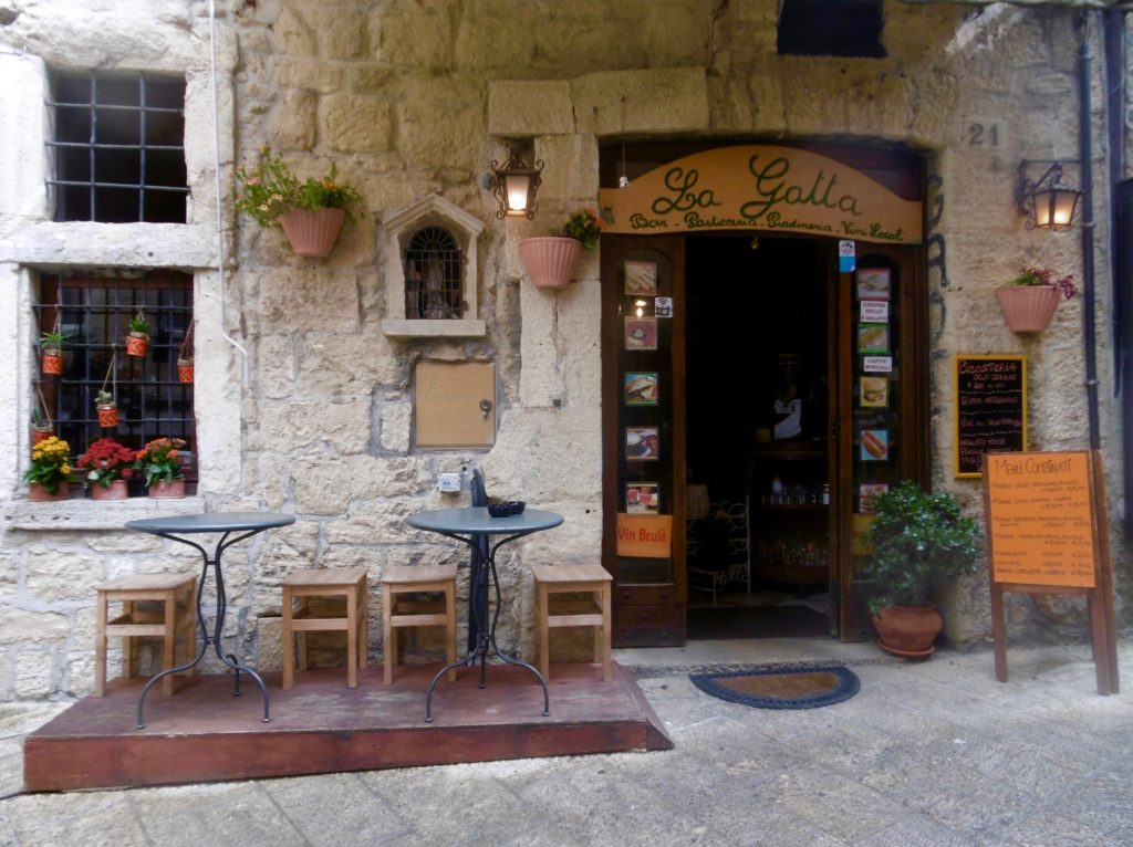 Nice cafe I went to when visiting San Marino.