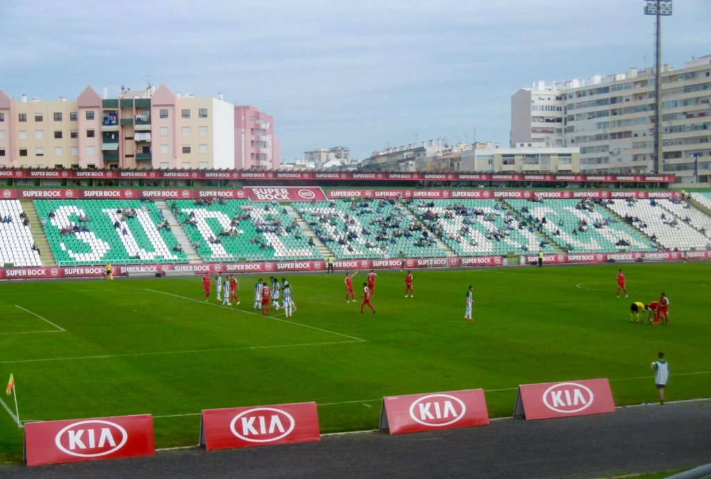 The stadium in Setubal.