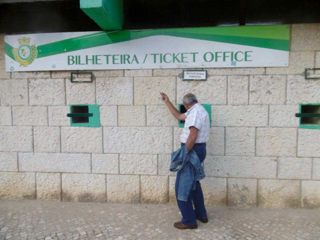 Ticket booth at the stadium in Setubal.