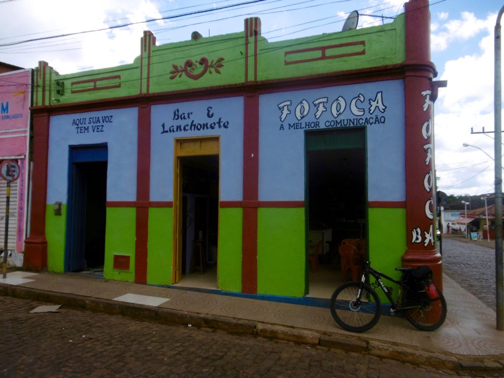 Colorful cafe in rural Bahia.