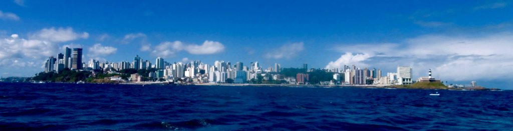 Salvador da Bahia, seen from the sea.