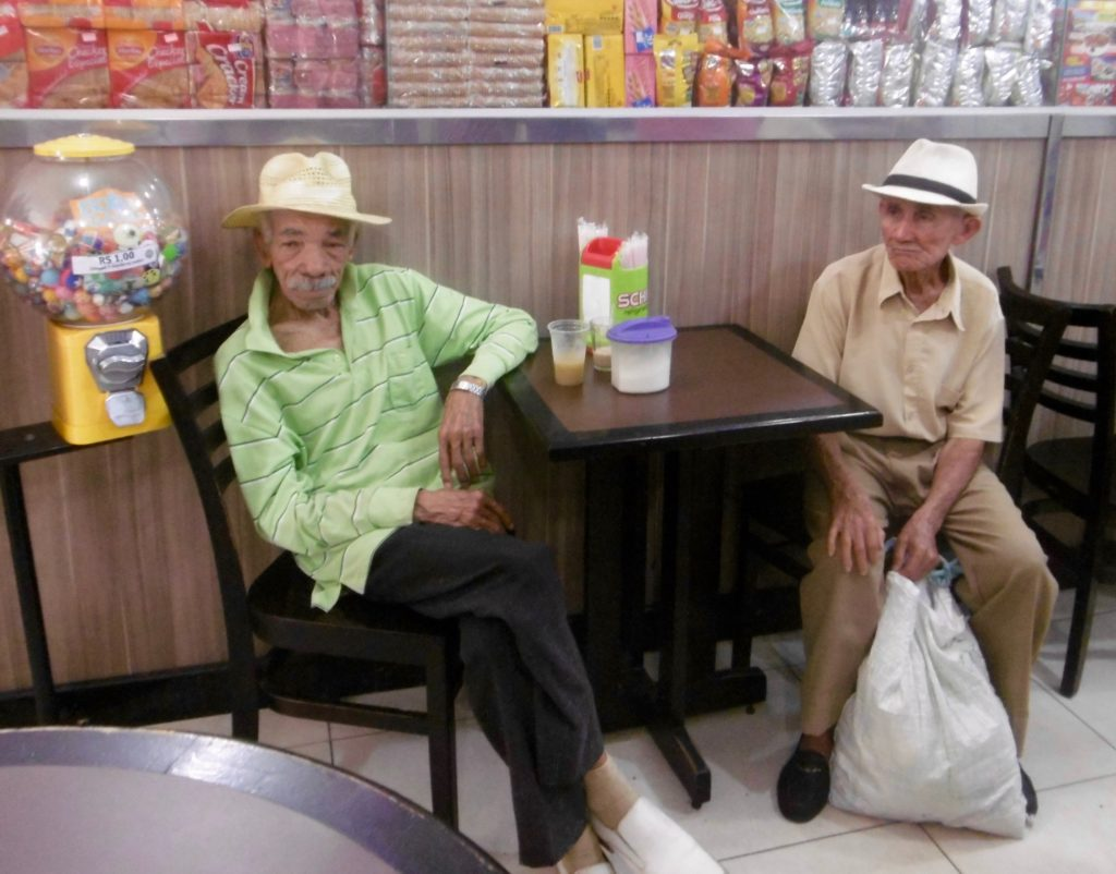 Two old Bahianos chilling out at a cafe.