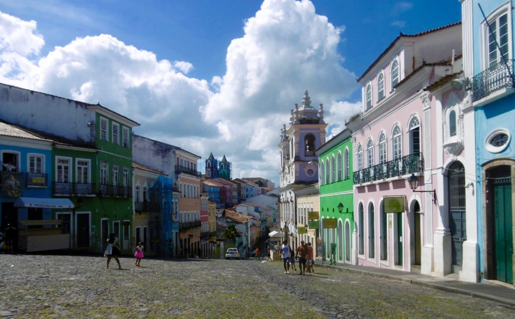 The old part of Salvador da Bahia, called Pelourinho.