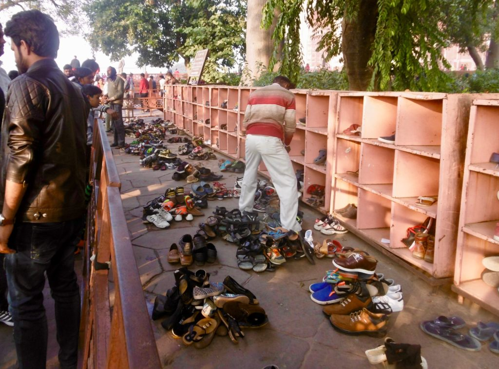 Shoe parking at Taj Mahal.