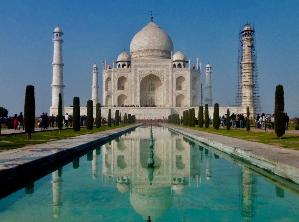 Visiting Taj Mahal.