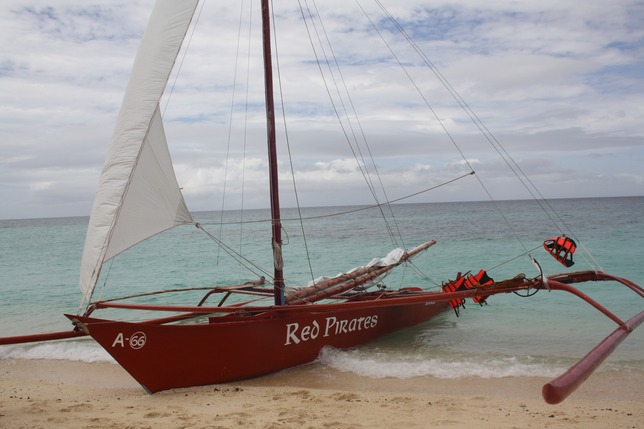 The Red Pirates boat.