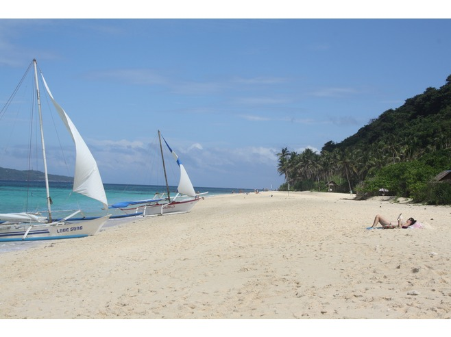 With a boat, you can visit some of the lesser visited beaches in Boracay.