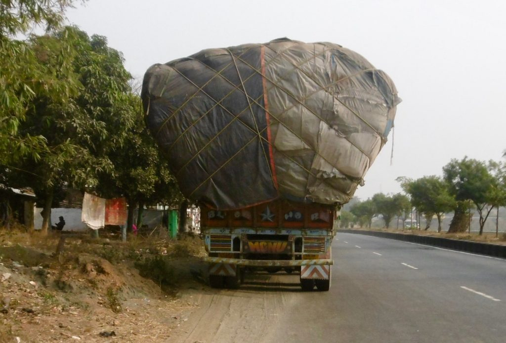 Fully loaded truck in the Jharkhand province.