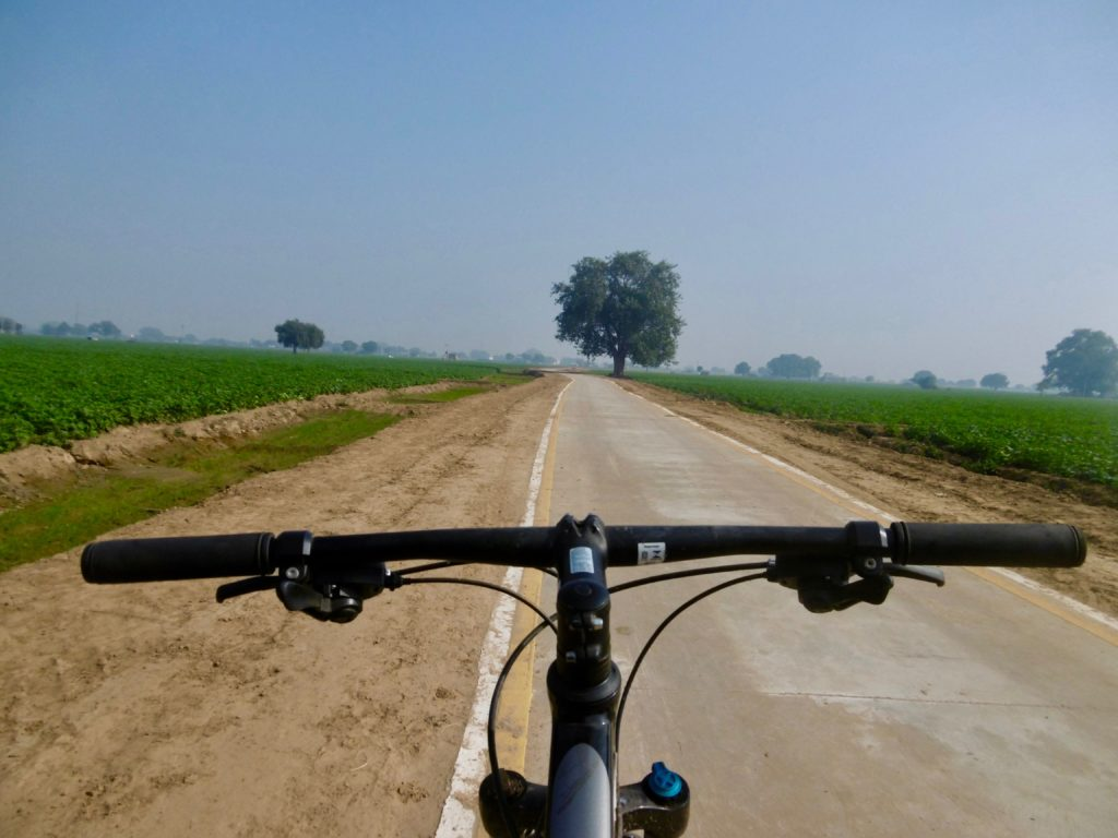 Cycling through India.