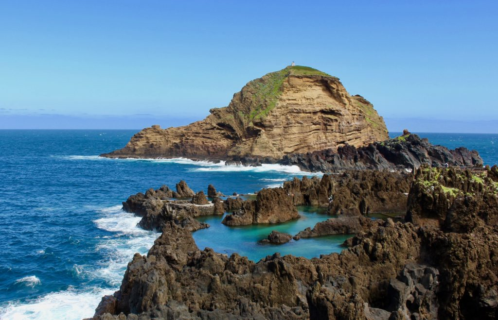 The coastline by Porto Moniz is rugged and stunning.