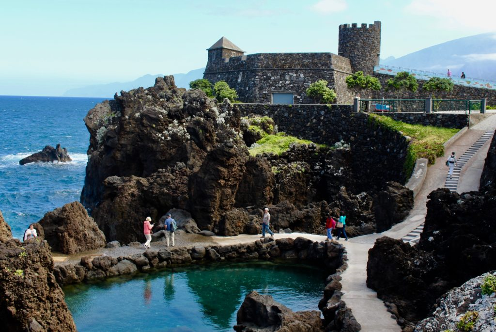 Natural pools and the old fort, which is today and aquarium.