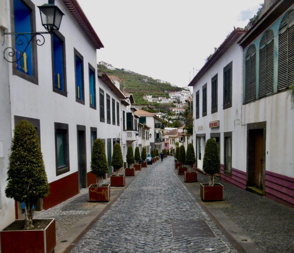One of the main streets in Camara de Lobos.