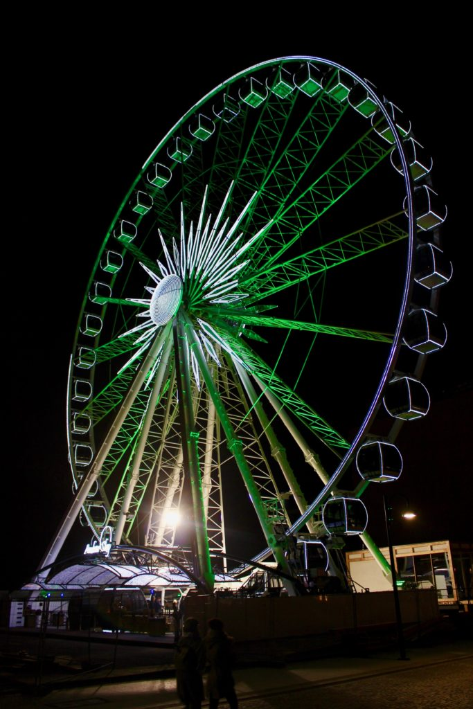 Ferris wheel in Gdansk.