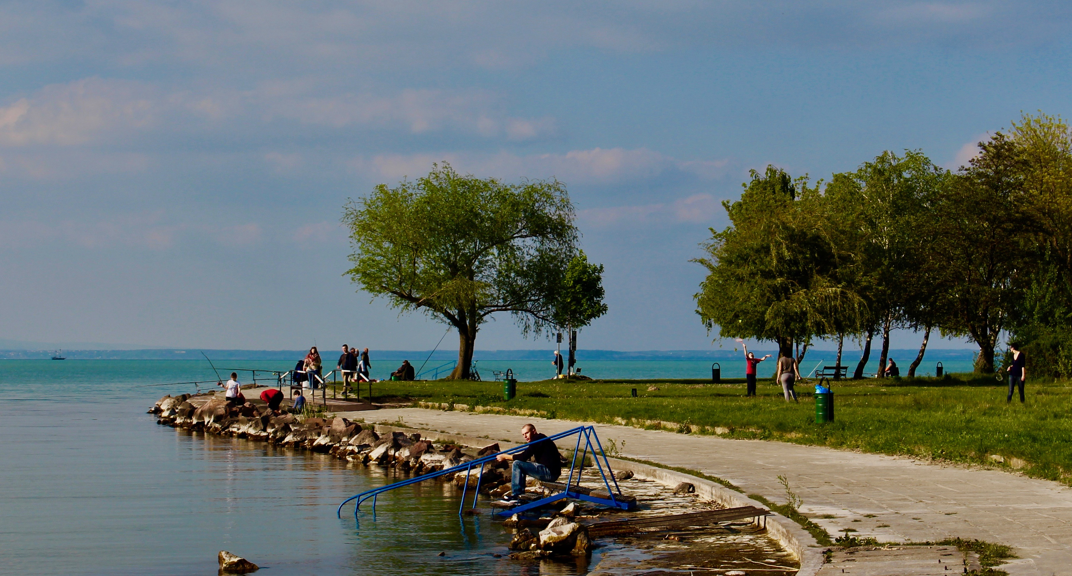 the lake balaton by - photo #4