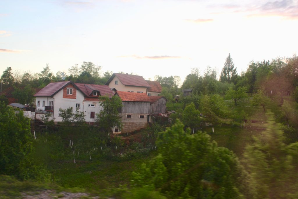 The train goes past some picturesque Croatian villages.