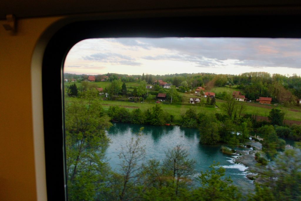 The train journey from Zagreb to Split is a scenic journey.
