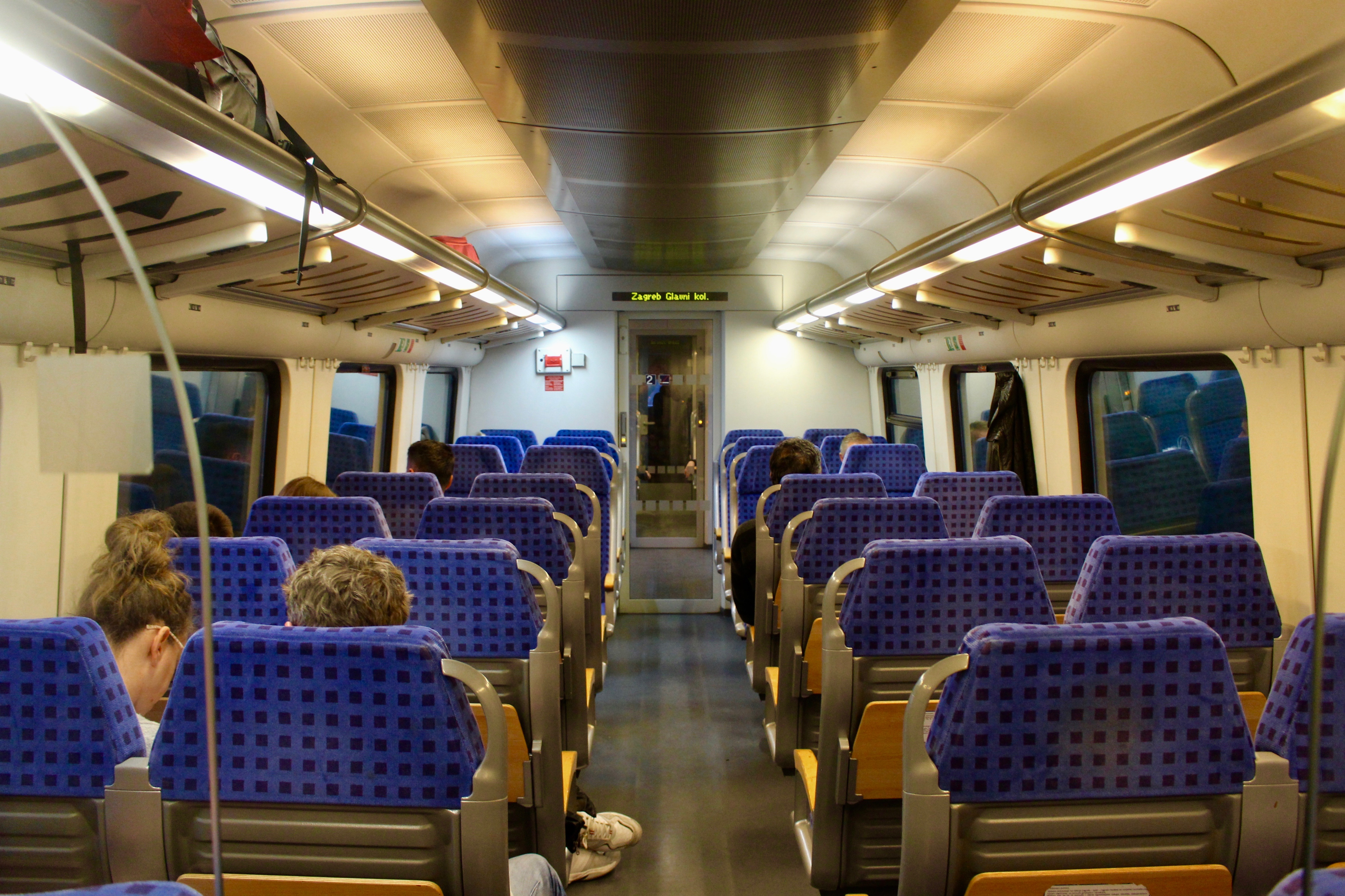 Taking The Train From Zagreb To Split Scenic Journey In A Modern Train