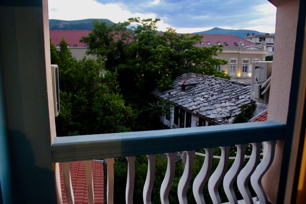 Nice balcony with a view at Guest House Lun in Mostar.