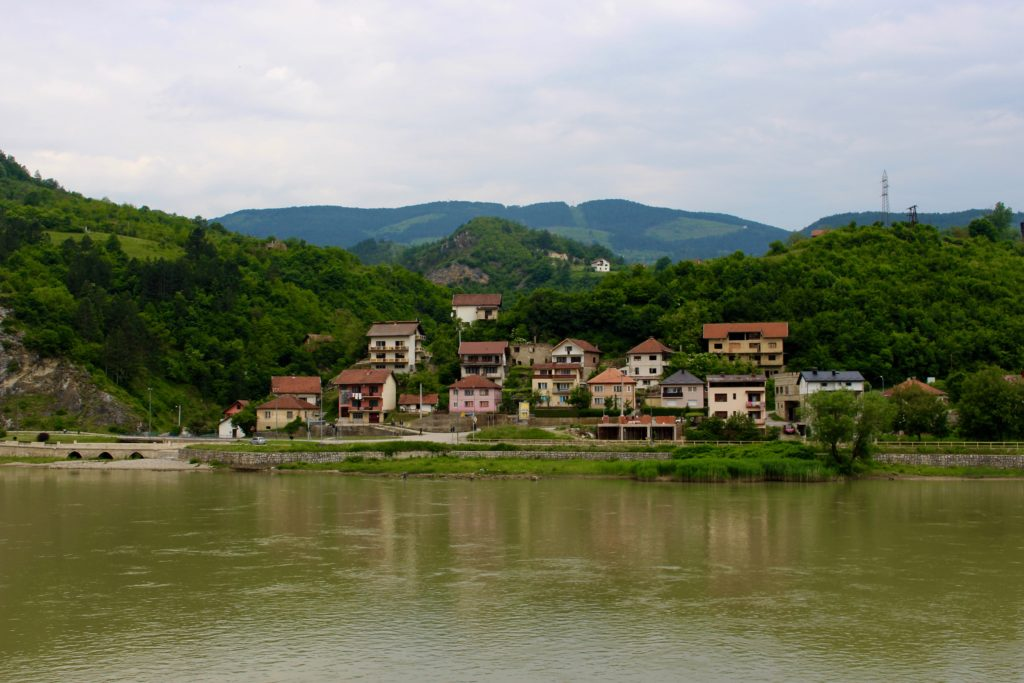 Visegrad has a nice natural setting by the river Drina.