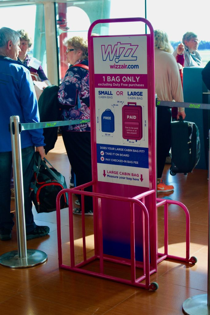 Luggage rules are very strict on Wizzair.