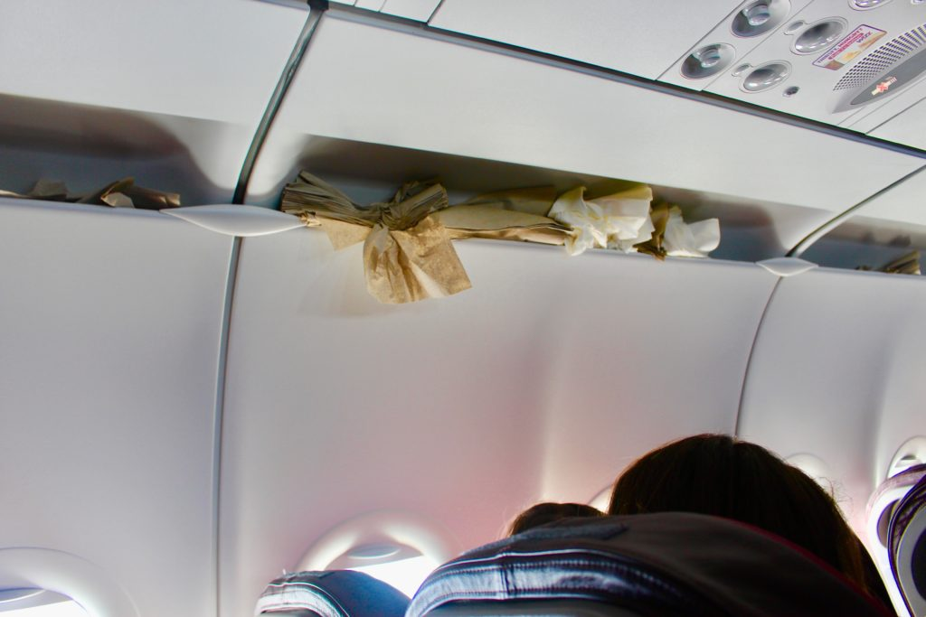 How to fix broken ventilation on a plane.