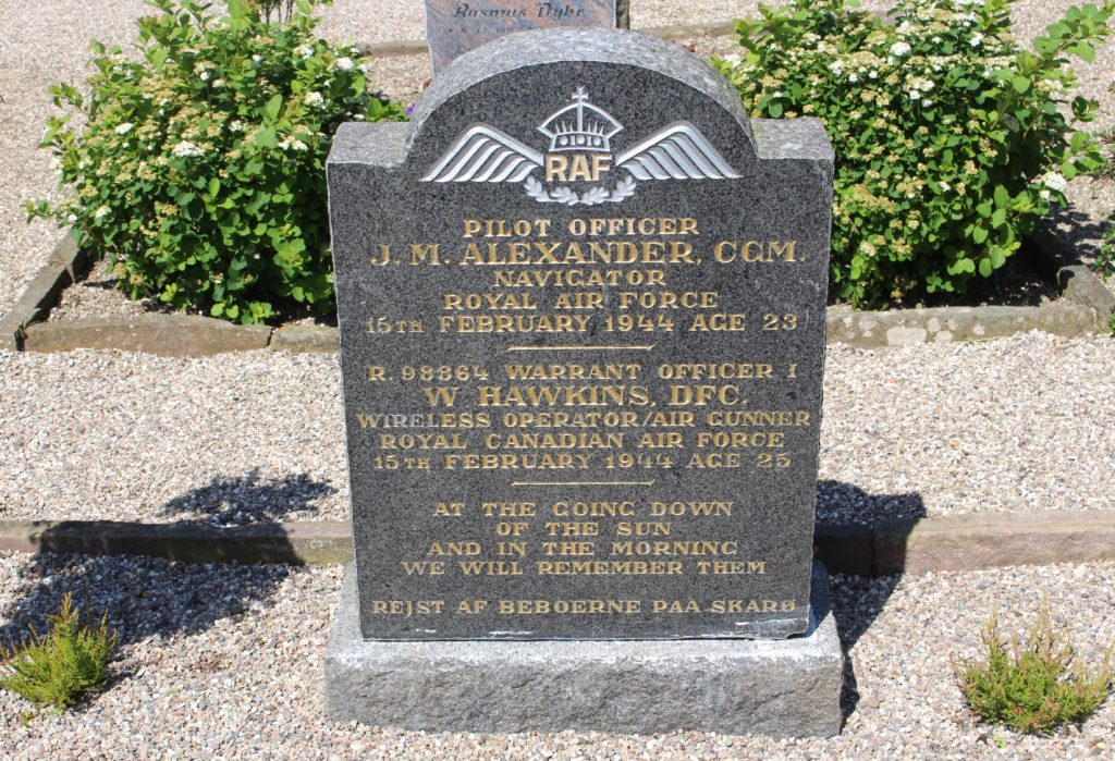 Two RAF solderis from WW2 are buried on Skarø.