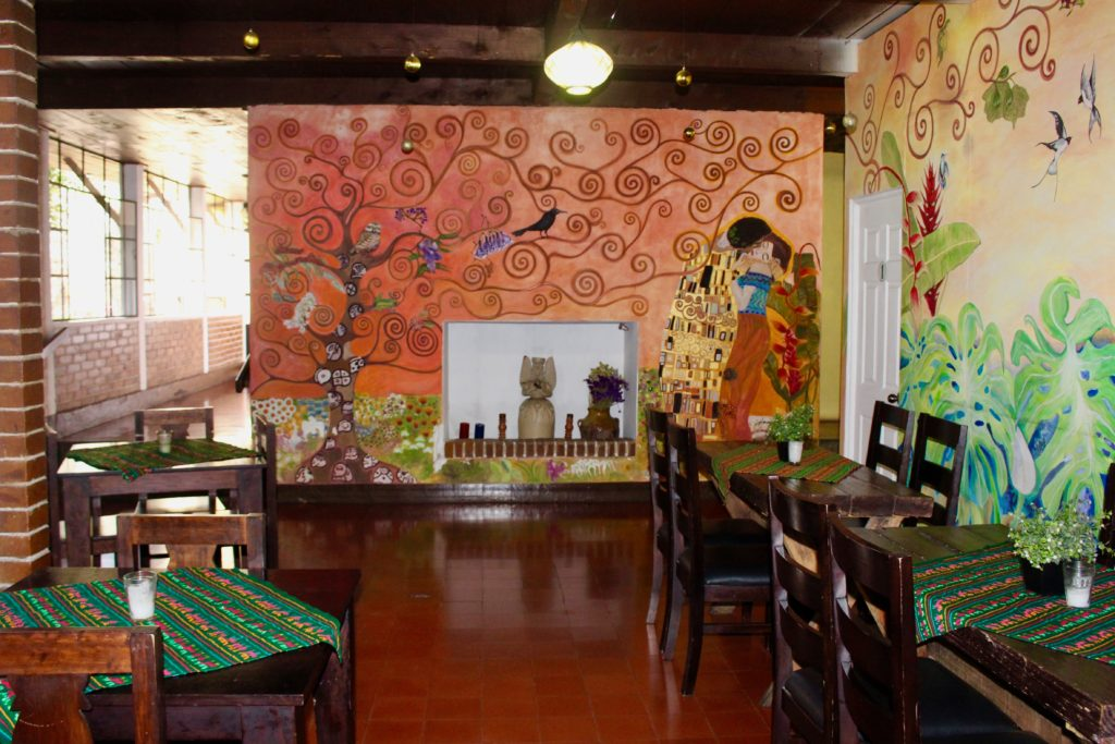 There are many colourful budget hotels in Guatemala.