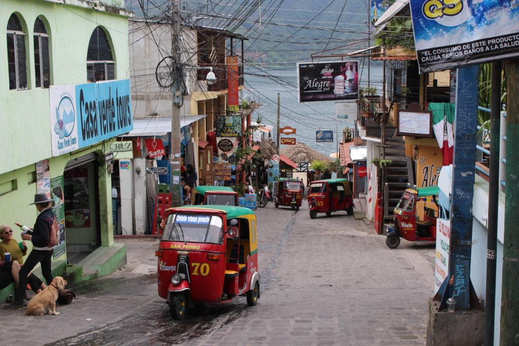 The main street in San Pedro Atitlan.