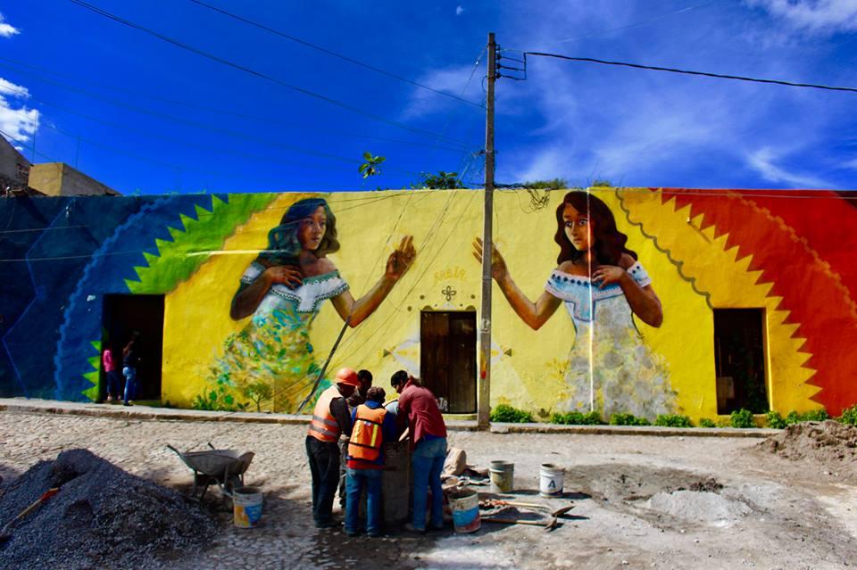 Mural in Puebla.
