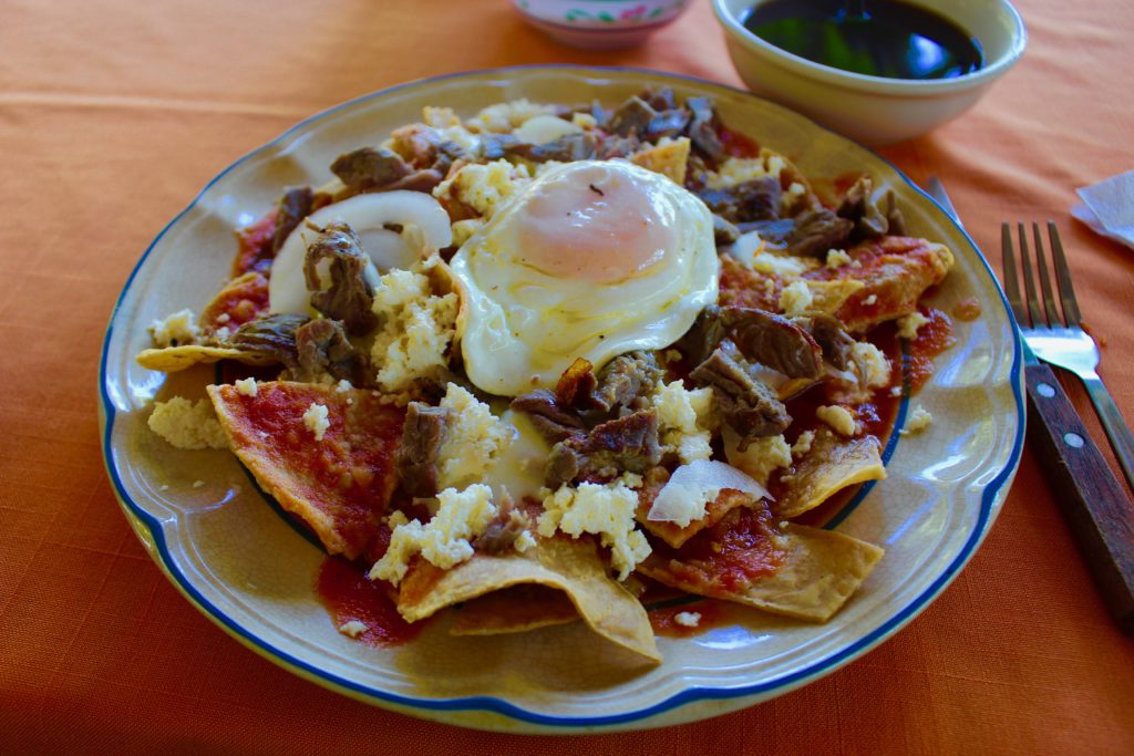 Fantastic breakfast in a small Chiapas restaurant.