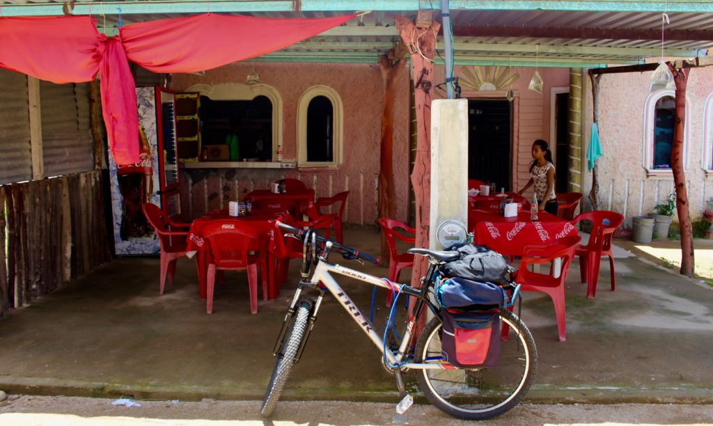 Lunch break at a roadside restaurant in Chiapas.