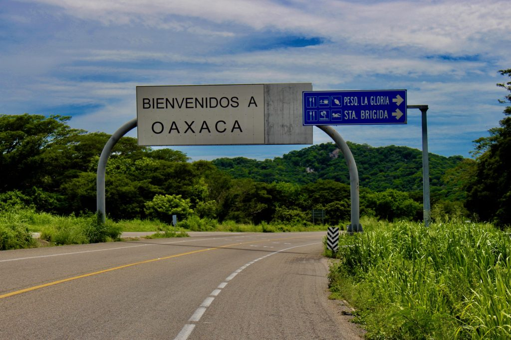 Crossing in to the state of Oaxaca.