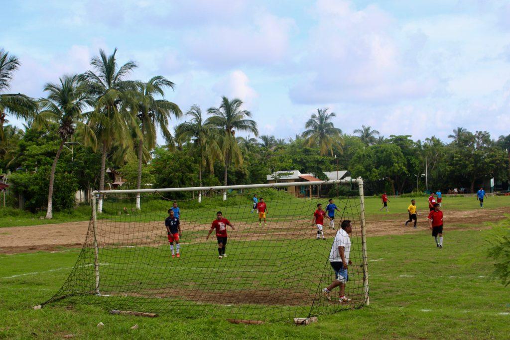 The local football ground in Mazunte.