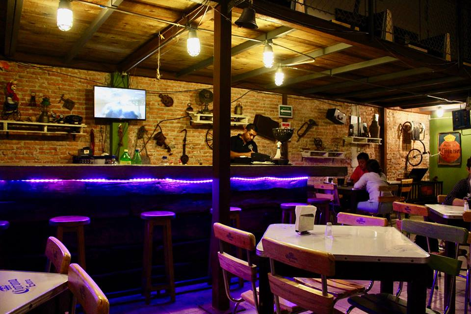 Fieles Difuntos bar in San Luis Potosi.