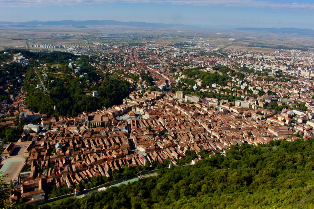 Brasov seen from above.