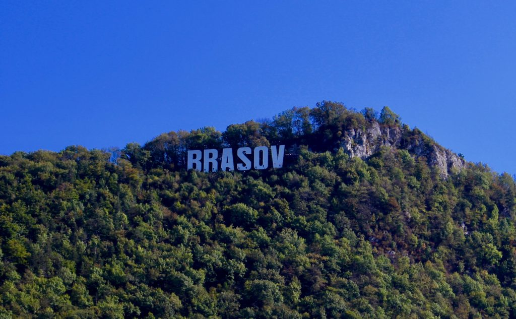 The Hollywood sign in Brasov.