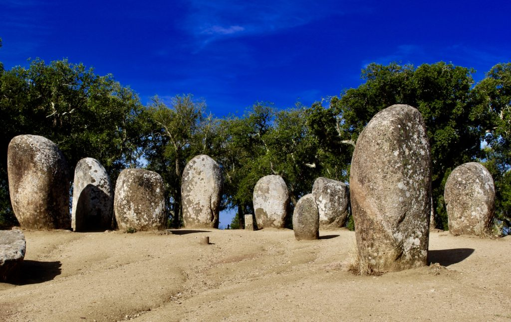 Almendres Cromlech in Portugal.