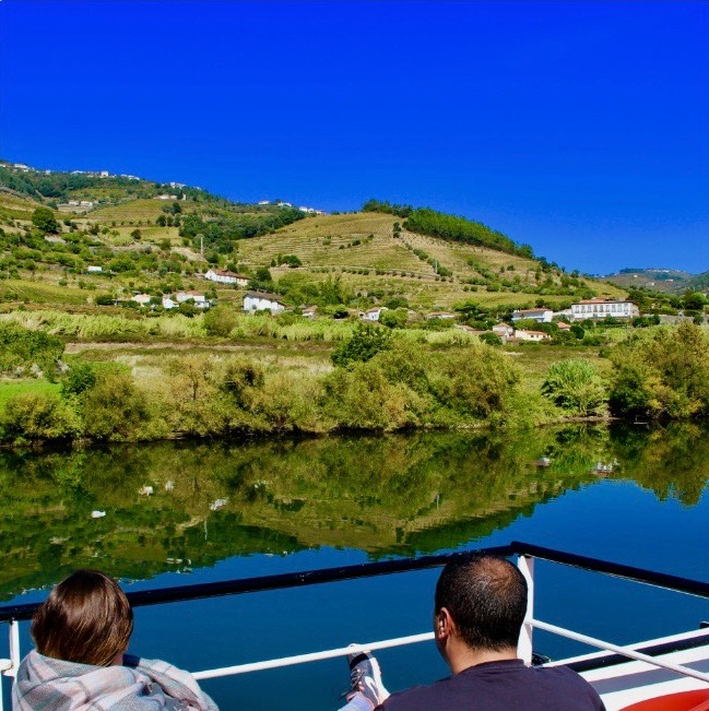 Cruising on the Douro River.